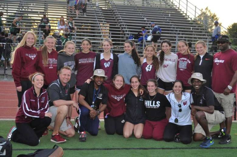 Some+of+the+members+of+the+girls+track+team+that+broke+multiple+records+this+season.