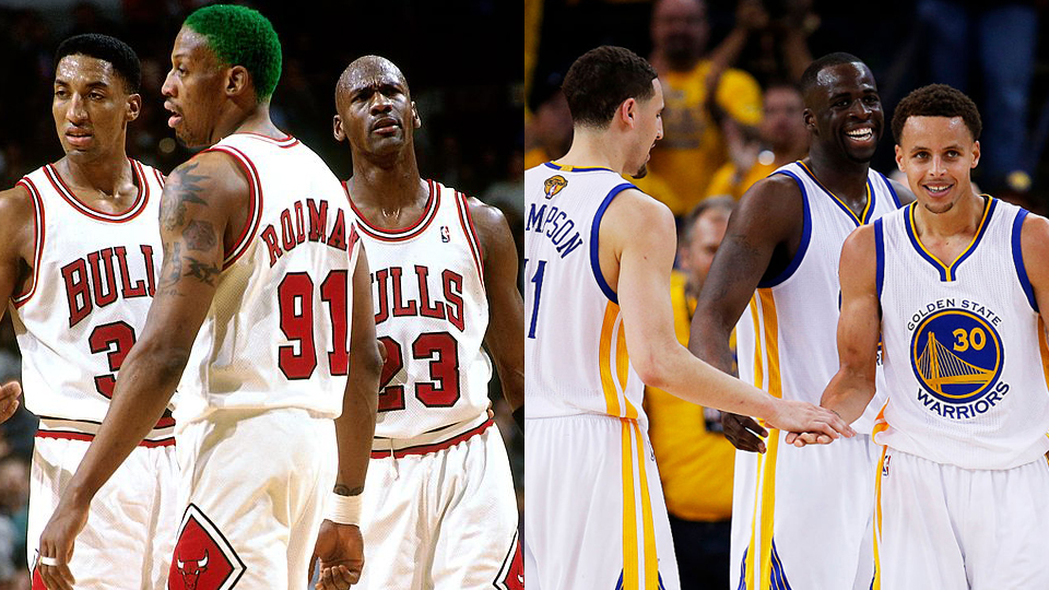 With+the+Warriors+coming+off+their+second+title+in+three+years%2C+many+people+are+debating+if+they+are+as+good+or+better+than+Michael+Jordan%27s+Bulls.