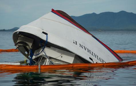 Ship capsized in Canada
