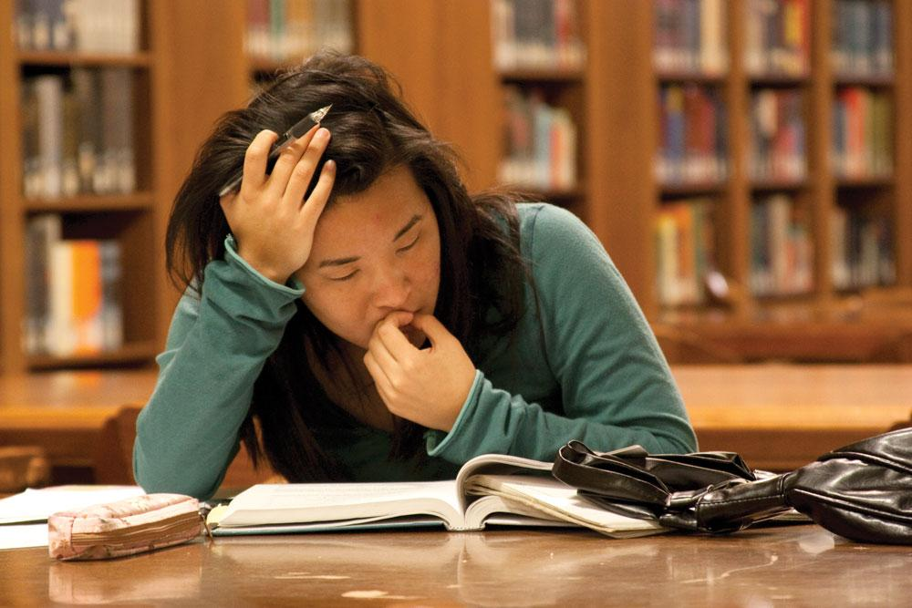 essay on stress on students in college