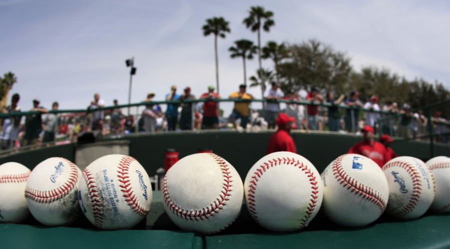 Fans+stand+above+the+Philadelphia+Phillies+bullpen+before+a+spring+training+baseball+game+against+the+Atlanta+Braves+Wednesday%2C+March+24%2C+2010+in+Kissimmee%2C+Fla.+%28AP+Photo%2FCharlie+Riedel%29