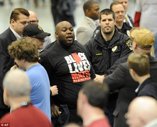 Veteran Attacks Black Protestor at Trump Rally