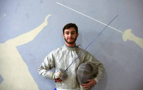 Dawson Sieradzky, pictured here, is one of the best high school fencers in the country.