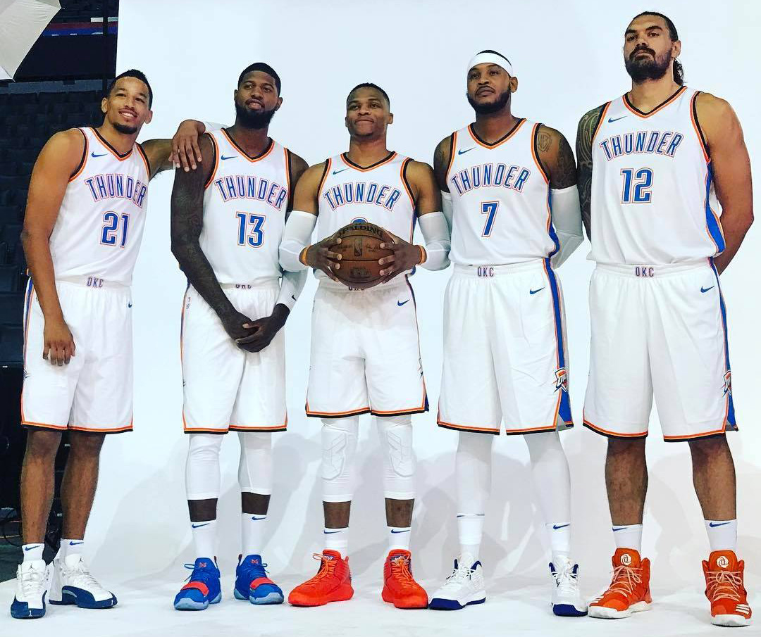 Carmelo Anthony will be a key contributor to a new look Thunder team this  season.