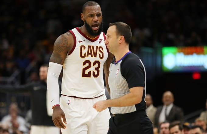 In LeBron's illustrious career, he has not received an ejection until this season.