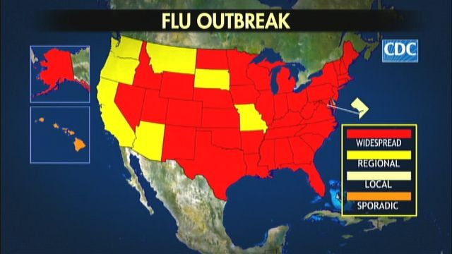 Flu Outbreak Spreads Across the Country