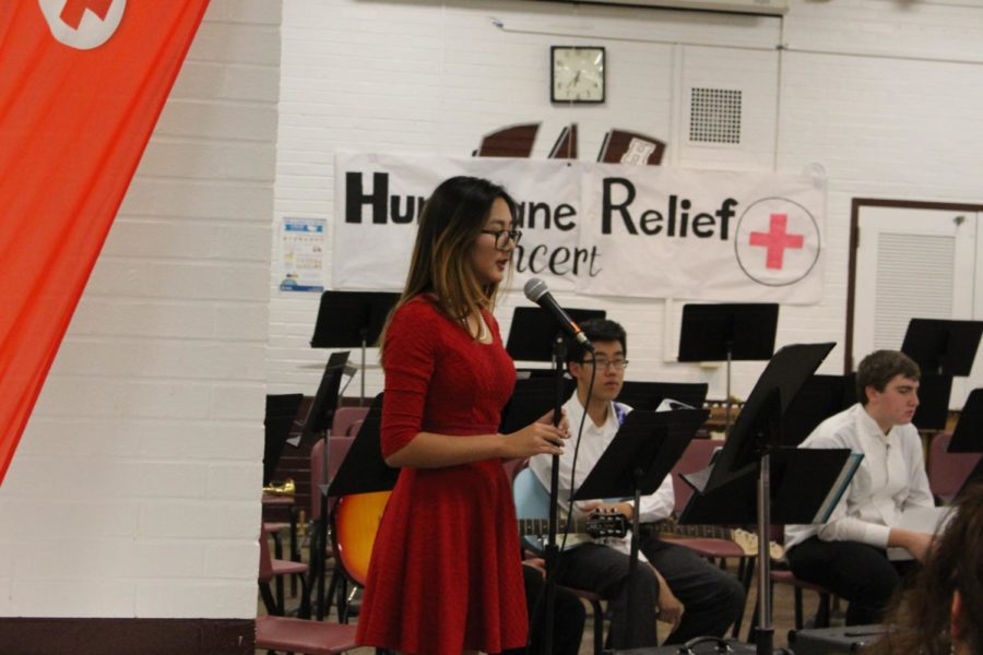 Arianna+Chen+%28our+very+own+senior+editor%29%2C+President+of+the+Red+Cross+Youth+Council%2C+greets+attendees+of+the+concert.+