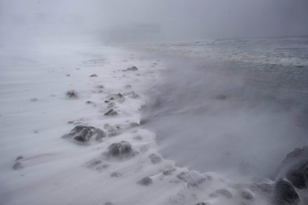 Winds Batter the Jersey Shore near Atlantic City. Source: Washington Post;  (Mark Makela/Getty Images)