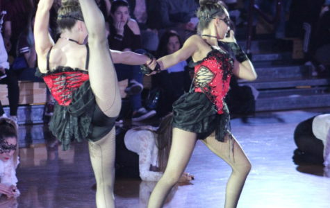 First place dance Maroon Jazz Captains Olivia Alboher (left) and Sabrina Coniglio (right) performing their award winning solo during the SDA Show.