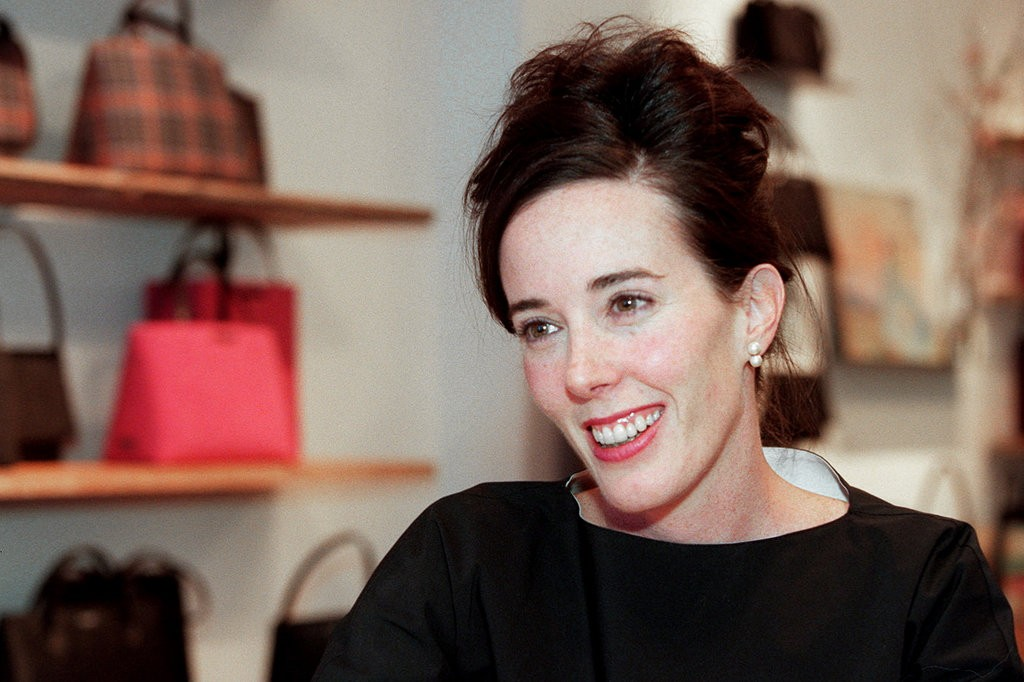 Kate Spade, shown here in a a showroom in 1999, was found dead of apparent suicide on June 5, 2018. (Marilynn K. Yee/The New York Times)