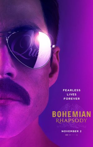 "This is a picture of Rami Malek as Freddie Mercury in promotion of ""Bohemian Rhapsody"""
