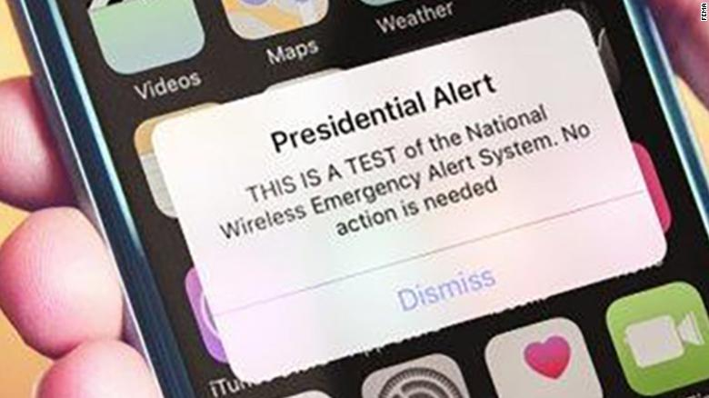 First+Presidential+Alert+Broadcasted