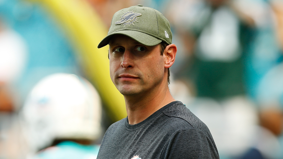 Jets new head coach Adam Gase during his time with the Miami Dolphins.