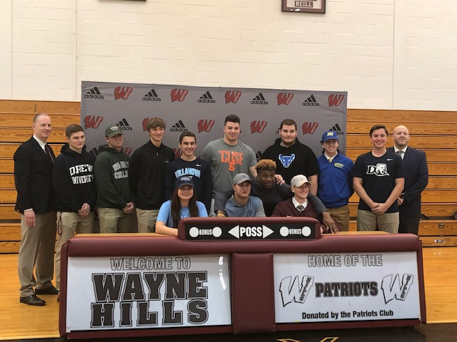 The student athletes at National Signing Day
