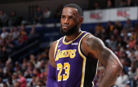 NEW ORLEANS, LA - FEBRUARY 23: LeBron James #23 of the Los Angeles Lakers looks on against the New Orleans Pelicans on February 23, 2019 at the Smoothie King Center in New Orleans, Louisiana. NOTE TO USER: User expressly acknowledges and agrees that, by downloading and or using this Photograph, user is consenting to the terms and conditions of the Getty Images License Agreement. Mandatory Copyright Notice: Copyright 2019 NBAE (Photo by Nathaniel S. Butler/NBAE via Getty Images)