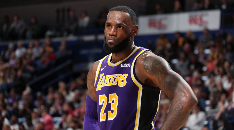NEW+ORLEANS%2C+LA+-+FEBRUARY+23%3A+LeBron+James+%2323+of+the+Los+Angeles+Lakers+looks+on+against+the+New+Orleans+Pelicans+on+February+23%2C+2019+at+the+Smoothie+King+Center+in+New+Orleans%2C+Louisiana.+NOTE+TO+USER%3A+User+expressly+acknowledges+and+agrees+that%2C+by+downloading+and+or+using+this+Photograph%2C+user+is+consenting+to+the+terms+and+conditions+of+the+Getty+Images+License+Agreement.+Mandatory+Copyright+Notice%3A+Copyright+2019+NBAE+%28Photo+by+Nathaniel+S.+Butler%2FNBAE+via+Getty+Images%29