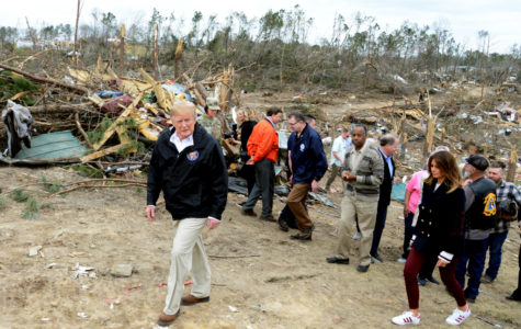 President Trump and the First Lady survey damages from the tornado disaster.