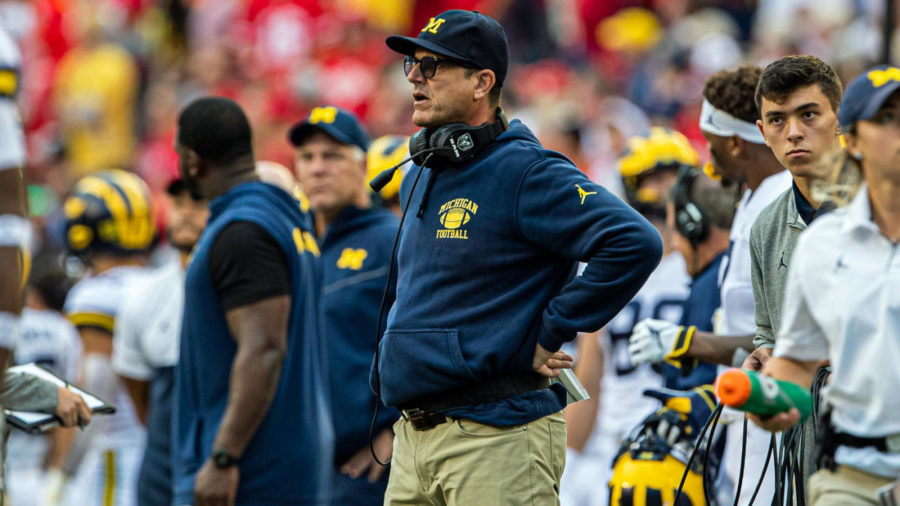 Jim+Harbaugh+looks+on%2C+baffled%2C+as+his+team+his+trounced+by+Wisconsin.