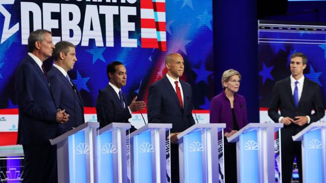 Image from the first 2020 Democratic debate.