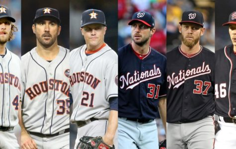 Both teams are backed by their strong pitching staff.   The Astros with Gerrit Cole, Justin Verlander, and Zack Greinke and the Nationals with Max Scherzer, Stephen Strasburg, and Patrick Corbin.