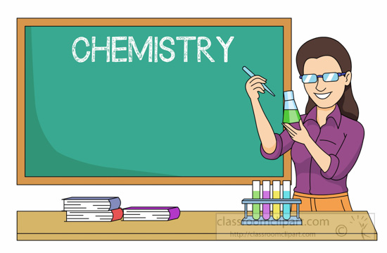 Chemistry Teacher Performing Experiment In Classroom