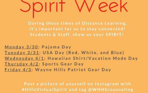 """Wayne Hills To Have """"Virtual Spirit Week"""""""