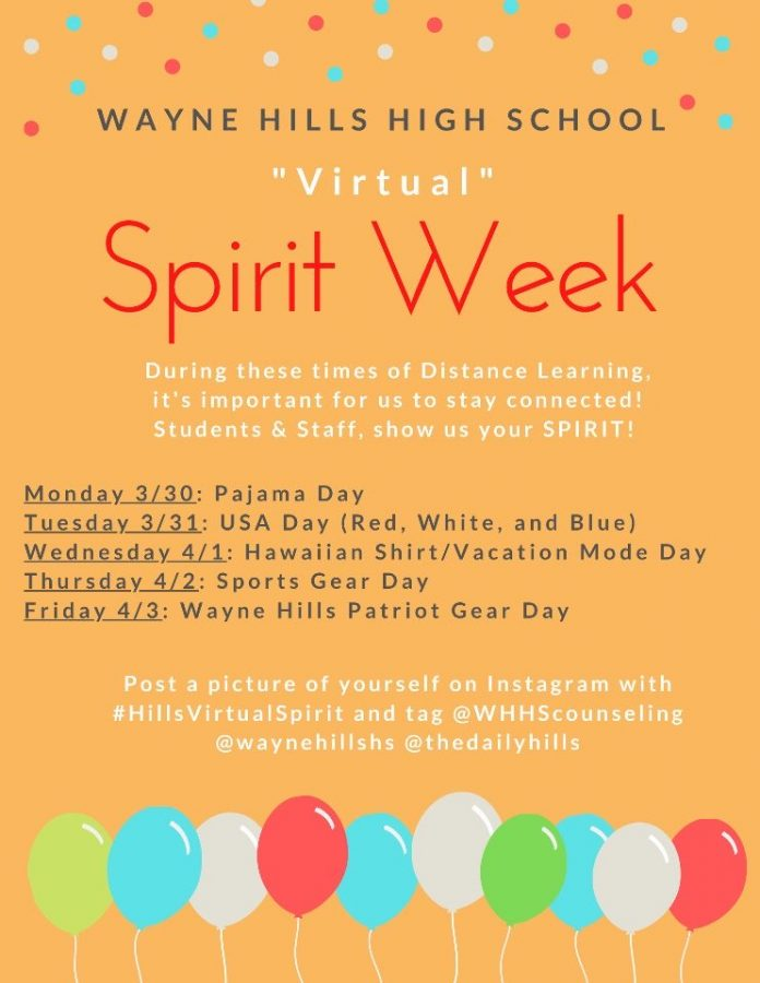 "Wayne Hills To Have ""Virtual Spirit Week"""