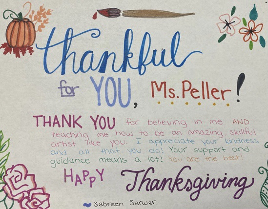 Wayne Hills Art Students Make Artistic Messages of Gratitude to Their Teachers