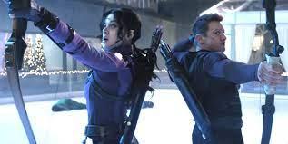 Hawkeye and his protegee Kate Bishop (photo courtesy of Menshealth.com)
