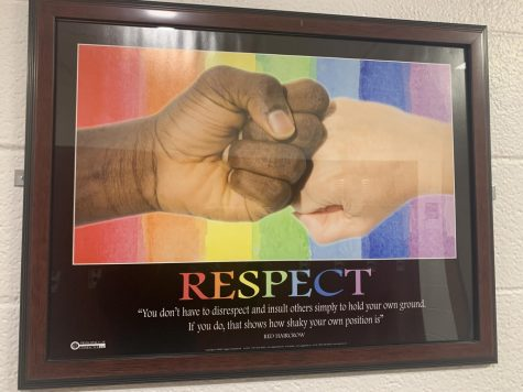 The school halls share the importance of respect.