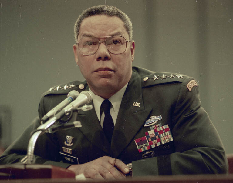 Gen. Colin Powell, chairman of the U.S. Joint Chiefs of Staff, is seen in 1991. (AP Photo)
